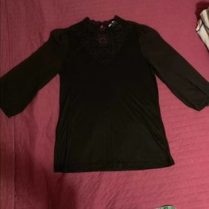 H&M black lace detail blouse Small worn once